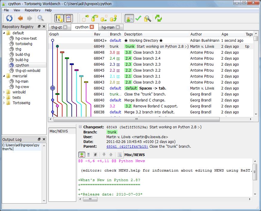 5 4  Workbench — TortoiseHg 4 7 0 documentation